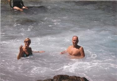 Bruce and Jan at Bubbling Cove